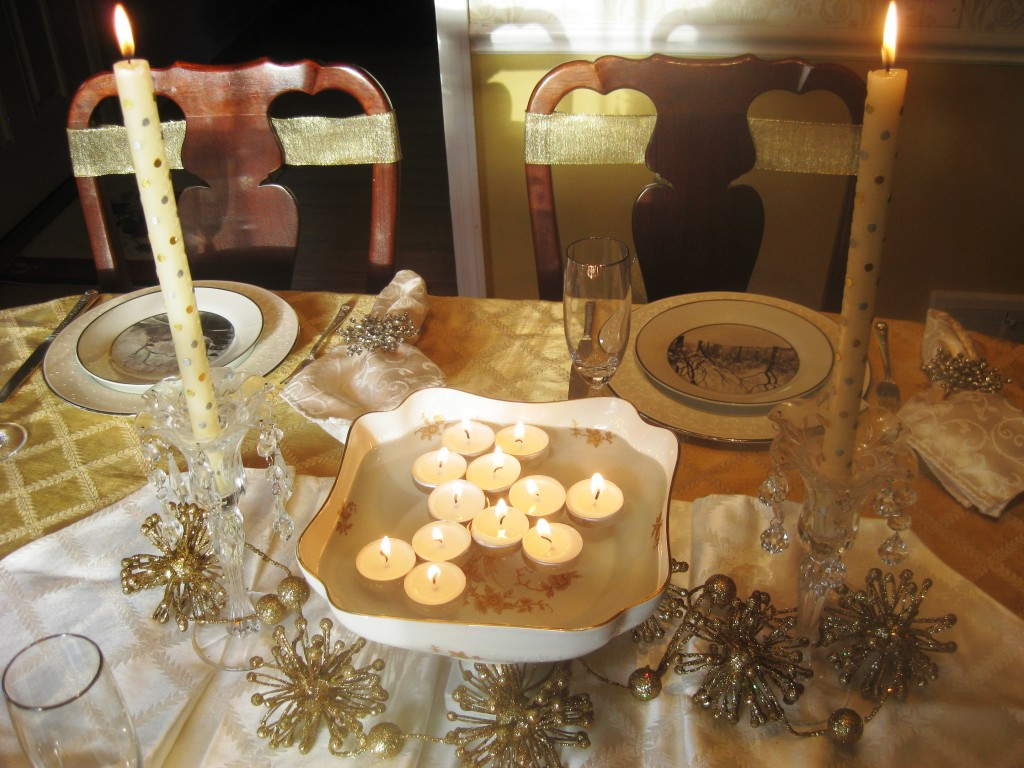 ... with Silver & Gold New Year's Eve Tablescape Red Door Table Decor