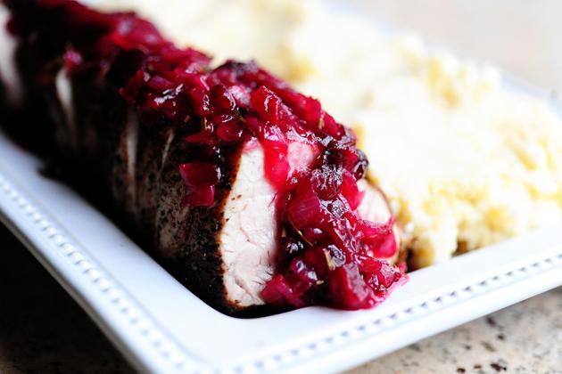 Pork Tenderloin with Cranberry Sauce Red Door Table Decor