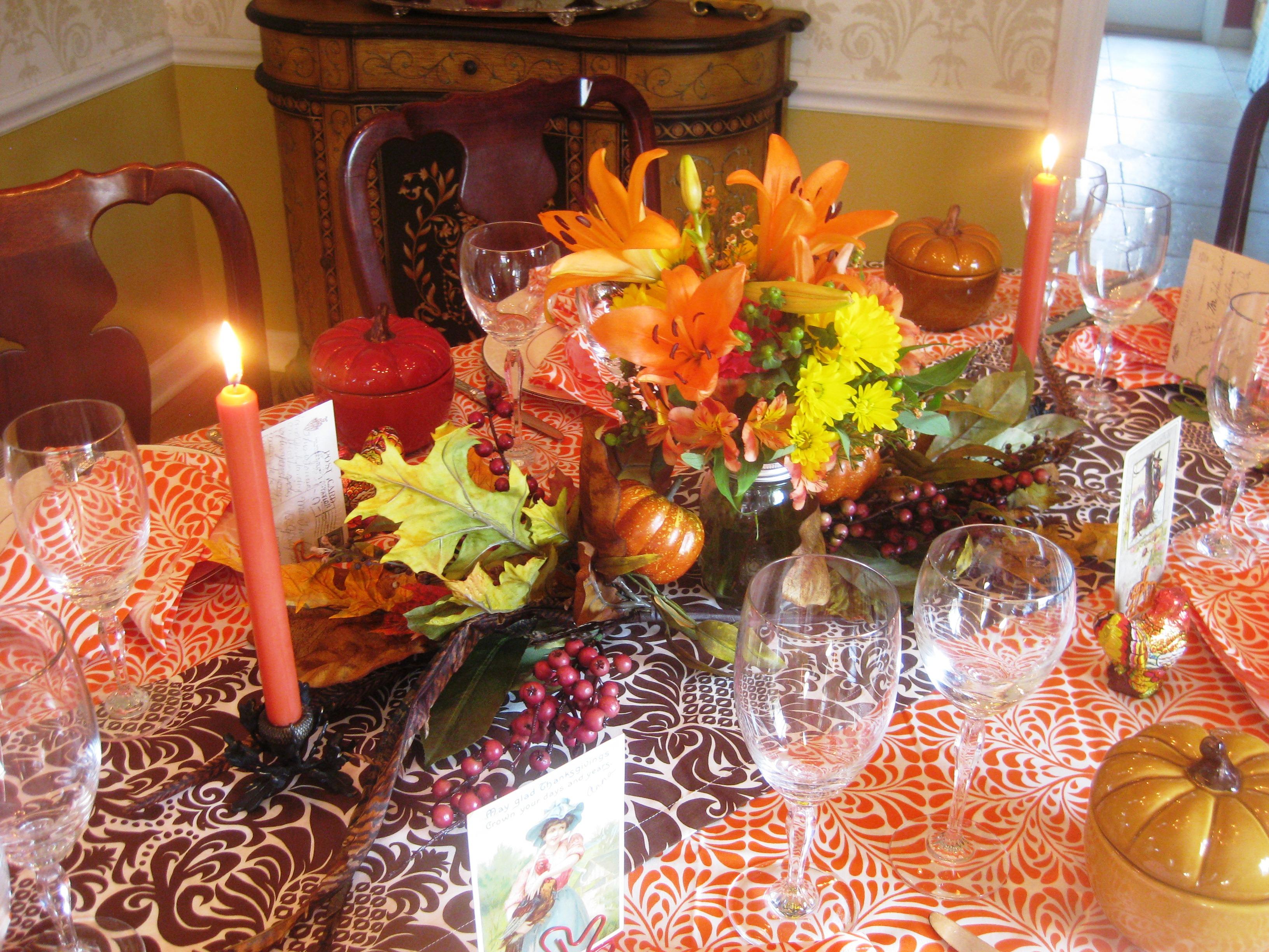 187 Festive Harvest Table Red Door Table Decor