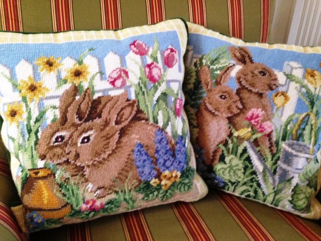 bunny pillows