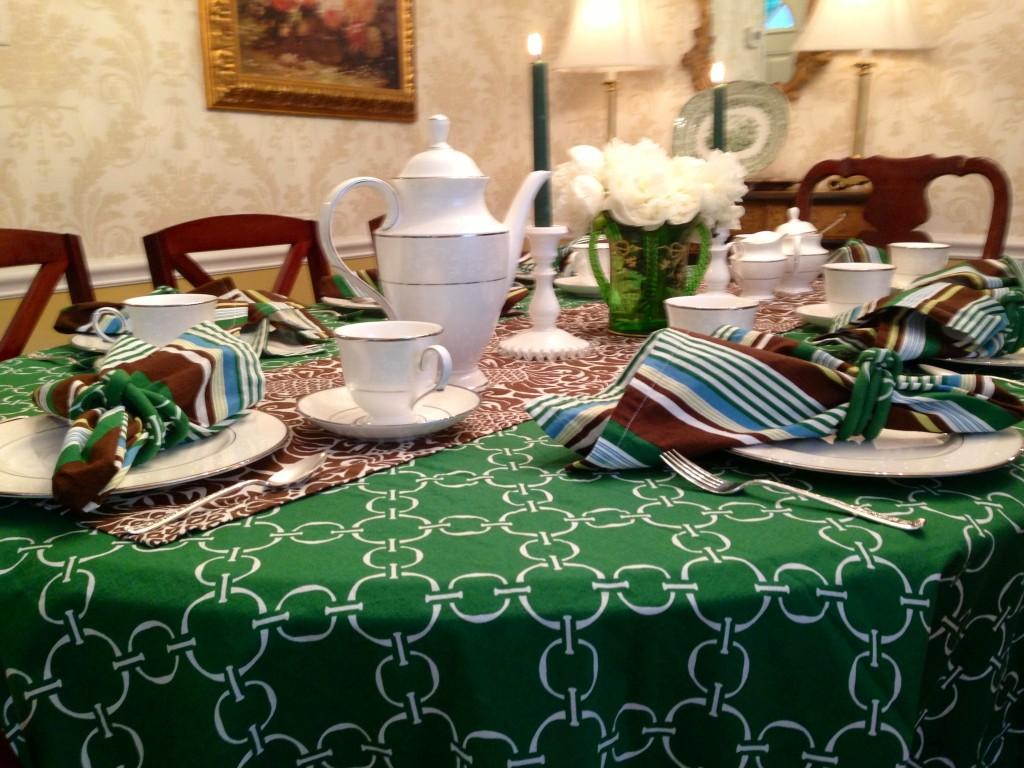 tablecloth close up